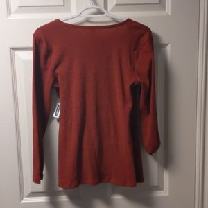 Old Navy Tops - Med - Burnt orange old navy long sleeve blouse
